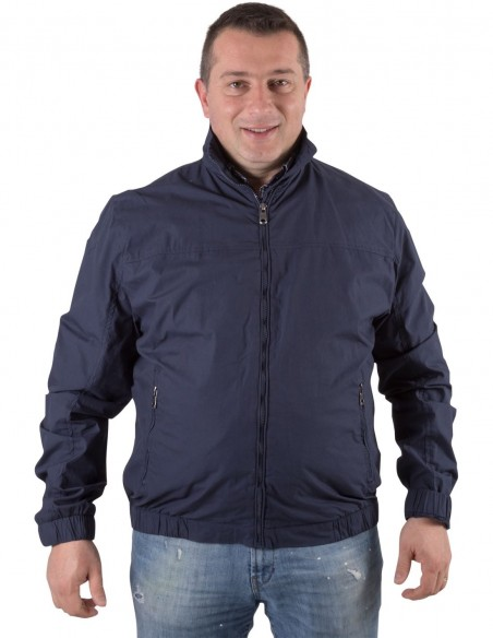 Maxfort taglie forti uomo Bomber con zip 100% cotone TESLA