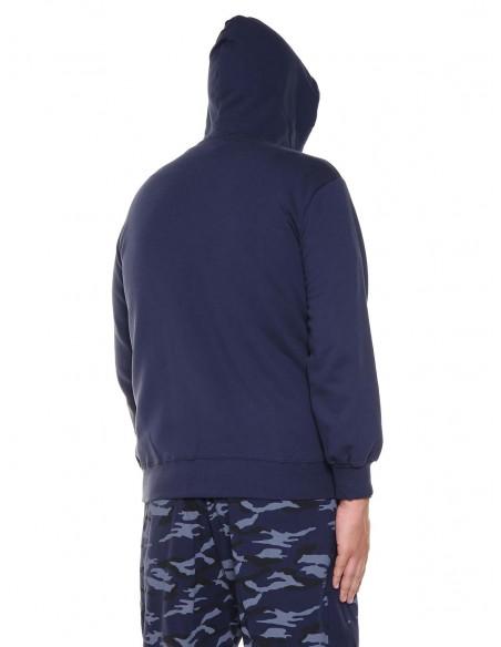 Maxfort Felpa zip con cappuccio ME7017 PROMO taglie forti uomo. Sconto 30%