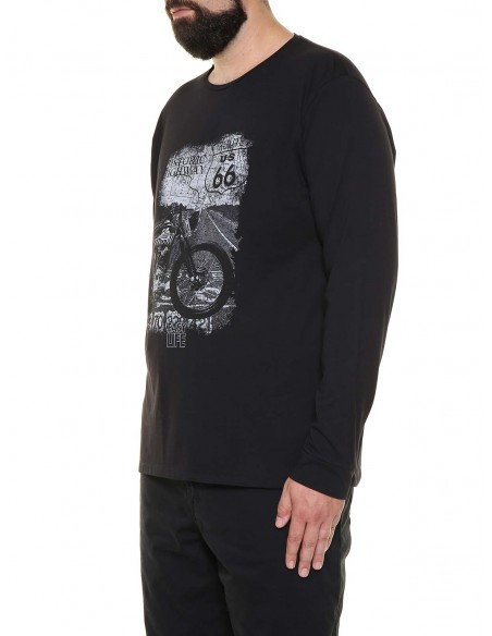 Maxfort taglie forti uomo T-shirt maniche lunghe ME7022