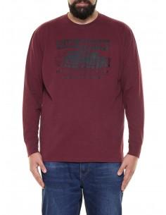Maxfort taglie forti uomo T-shirt maniche lunghe ME7029