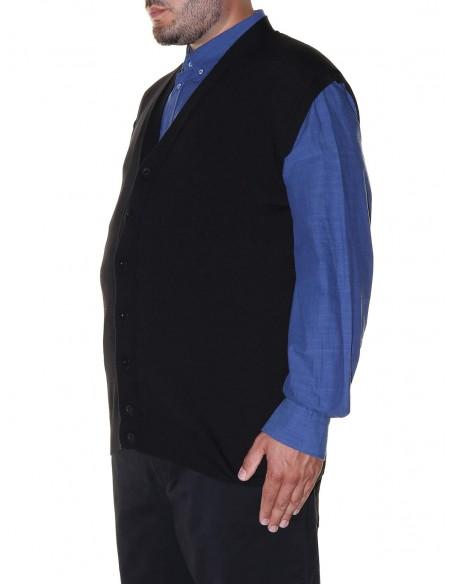 Maxfort Gilet scollo a V lana merinos 5421 taglie forti uomo