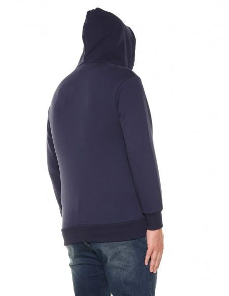 Maxfort taglie forti uomo Felpa zip con cappuccio 32101