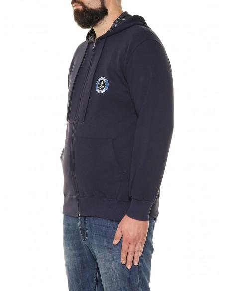 Maxfort Felpa zip con cappuccio 32506 PROMO taglie forti uomo. Sconto 30%