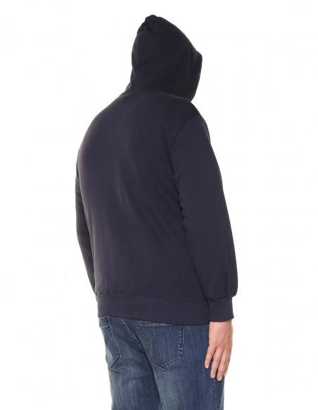 Maxfort taglie forti uomo Felpa zip con cappuccio 32506
