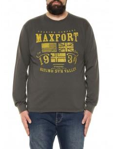 Maxfort taglie forti uomo T-shirt maniche lunghe 32550