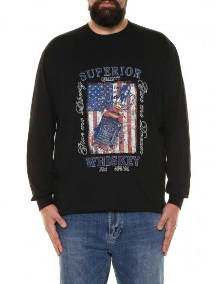 Maxfort T-shirt maniche lunghe 32961 PROMO taglie forti uomo. Sconto 30%