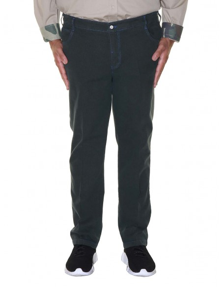 Maxfort taglie forti uomo Pantalone stretch 5 tasche CASHMERE
