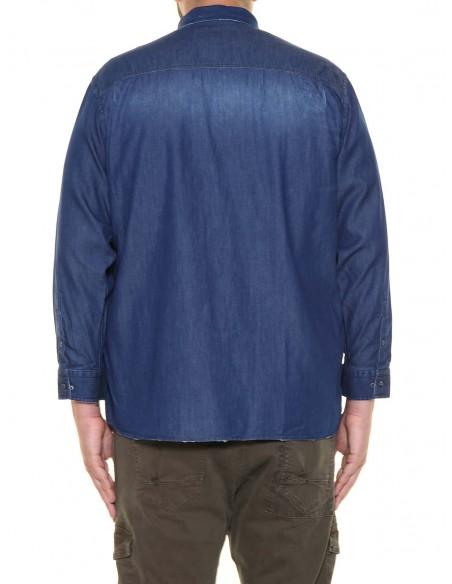 Blocco 38 Camicia jeans manica lunga 38.643 PROMO taglie forti uomo. Sconto 30%