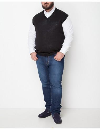 Profilo Moda Gilet scollo a V Botticino taglie forti uomo