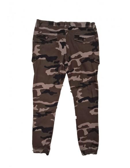 Profilo Moda Pantalone cargo mimetico RAMBO PROMO taglie forti uomo. Sconto 30%