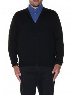 Maxfort Cardigan scollo a V lana merinos 5425 taglie forti uomo